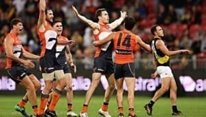 jeremy cameron kicks winning goal against tigers