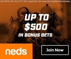 neds 500 bonus bet offer