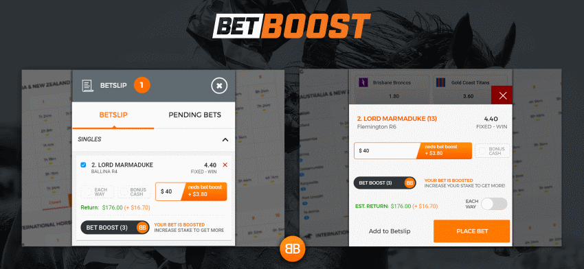 neds bet boost feature