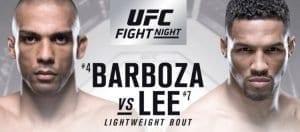ufc fight night 128 barboza vs lee predictions