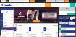 crownbet homepage design