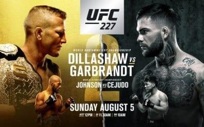 UFC 227: Dillashaw vs Garbrandt 2 Predictions & Betting Tips