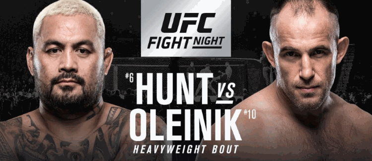 UFC Fight Night 136: Hunt vs. Oliynyk Predictions & Betting Tips