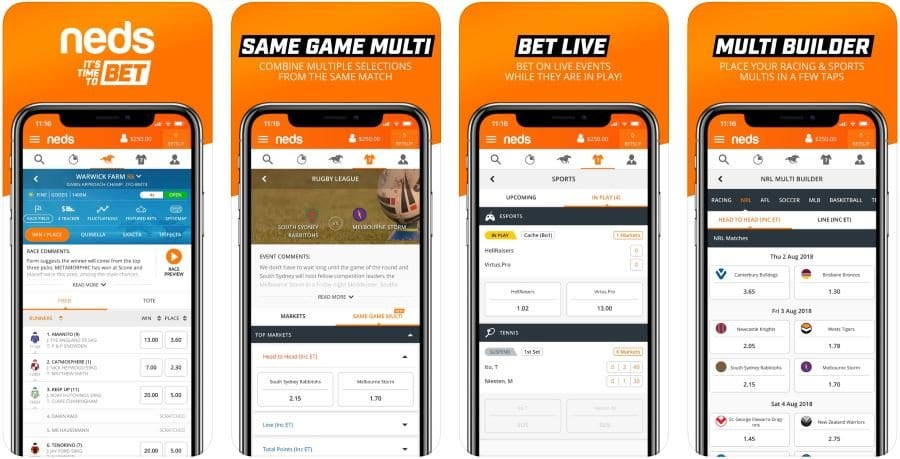 neds mobile betting app