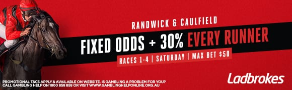 ladbrokes randwick and caulfield boost