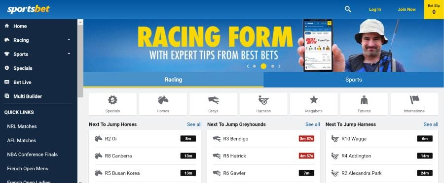 sportsbet website homepage
