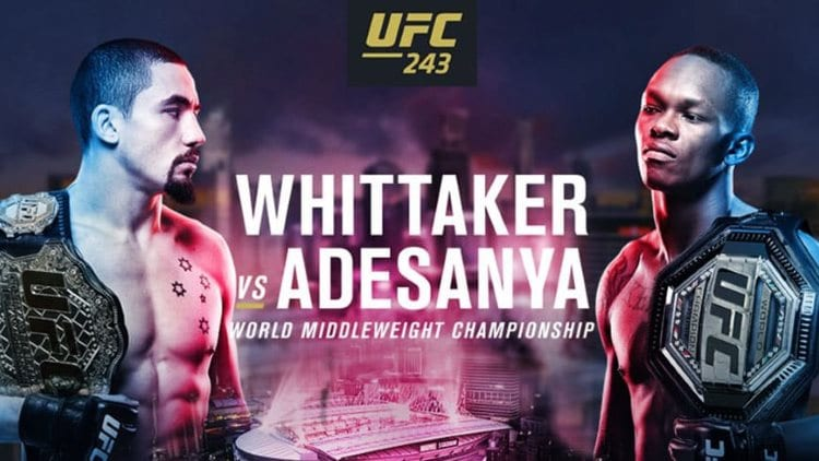 UFC 243: Whittaker vs. Adesanya Predictions & Betting Tips