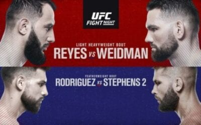 UFC on ESPN 6: Reyes vs. Weidman Predictions & Betting Tips