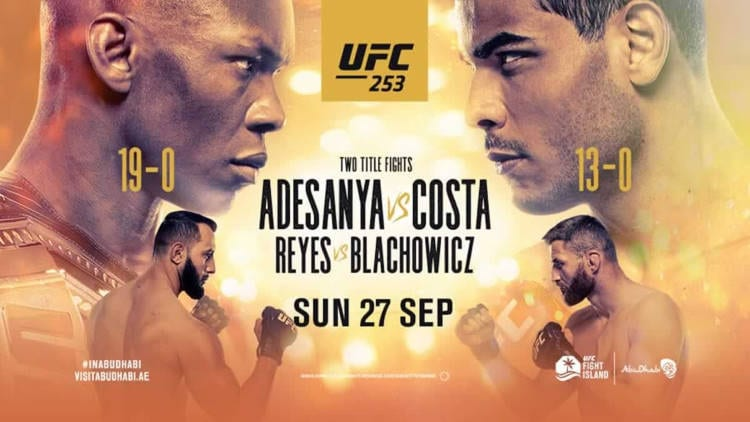 UFC 253: Adesanya vs. Costa Predictions & Betting Tips